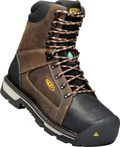 "KEEN MENS OAKLAND CSA 8"" CARBON WP BISON/BLACK BOOT"