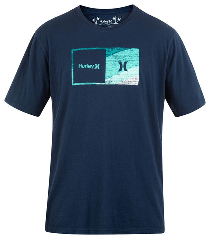HURLEY MENS EVERYDAY WASHED HALFER SWAMIS OBSIDIAN TSHIRT