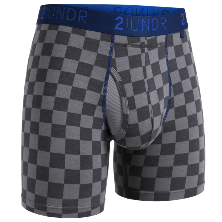 2UNDR MENS SWING SHIFT CHECKMATE BOXER BRIEF