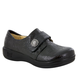 ALEGRIA LADIES JOLEEN TAR TOOLED BLACK SHOE