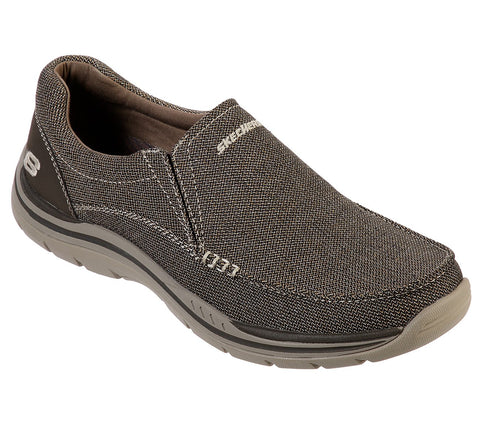 SKECHERS MENS EXPECTED AVILLO DARK BROWN SHOE