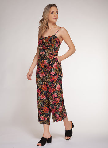 DEX CLOTHING LADIES FLORAL JUMPSUIT