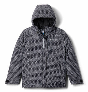 COLUMBIA YOUTH HORIZON RIDE BLACK SPARKLES WINTER JACKET