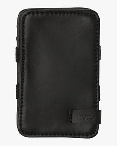 RVCA MENS LEATHER MAGIC BLACK WALLET
