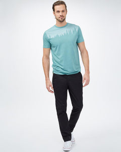 TEN TREE MENS JUNIPER CLASSIC SEA CLIFF BLUE HEATHER TSHIRT
