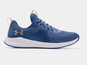UNDER ARMOUR LADIES CHARGED AURORA MINERAL BLUE TRAINING SHOE