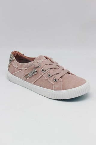 BLOWFISH LADIES FRUIT DIRT PINK SMOKED CANVAS/NATURAL DIEGO WEAVE SHOE