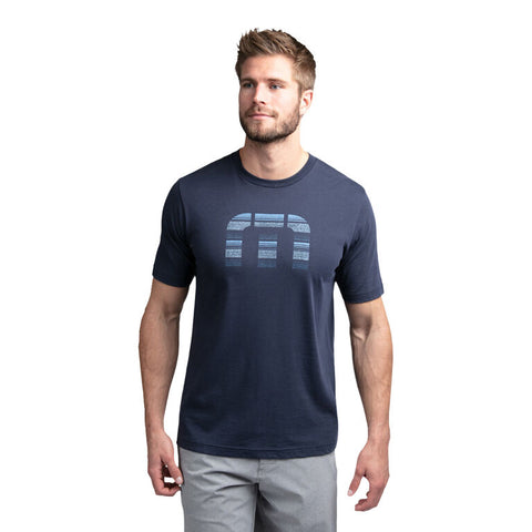 TRAVIS MATHEW MENS SOCIAL MEDIA MOOD INDIGO TSHIRT