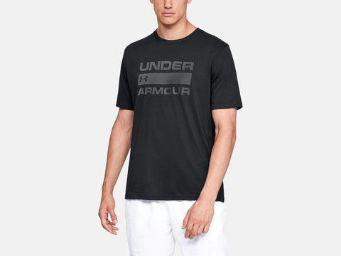 UNDER ARMOUR MENS TEAM ISSUE WORDMARK BLACK TSHIRT