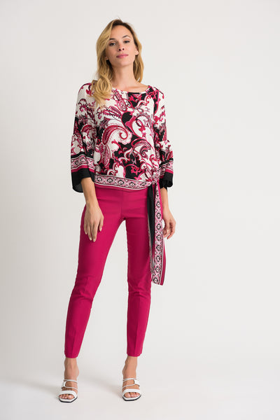 JOSEPH RIBKOFF LADIES VANILLA/MULTI LS TOP