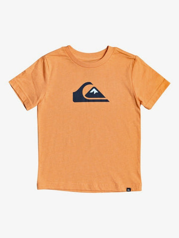 QUIKSILVER TODDLER COMP LOGO NECTARINE HEATHER TSHIRT