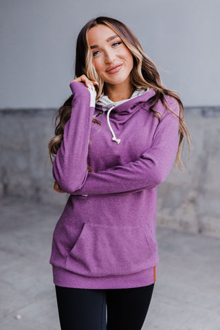 AMPERSAND AVE LADIES BASIC MINNEAPOLIS PURPLE DOUBLEHOOD HOODIE