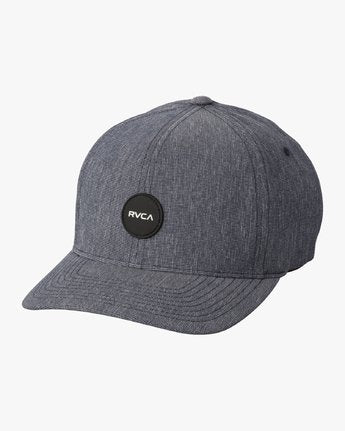 RVCA MENS SHANE FLEXFIT NAVY HEATHER HAT