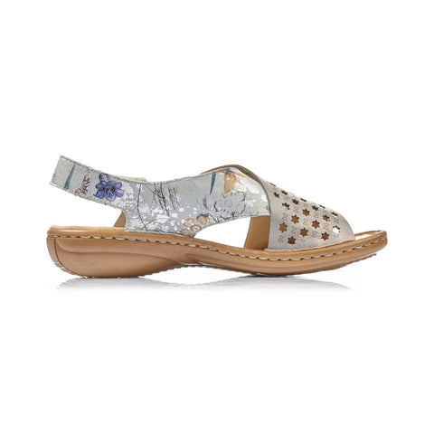 RIEKER LADIES 60826-90 MULTI COLOUR SANDAL