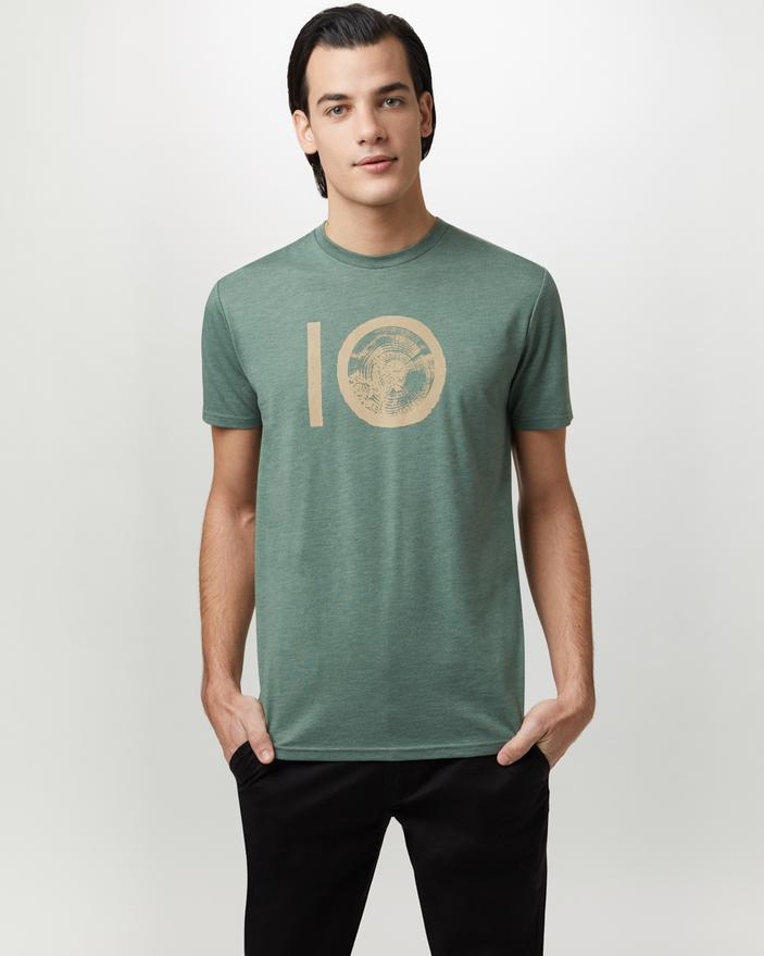 TEN TREE MENS TEN CLASSIC FOREST GREEN TSHIRT