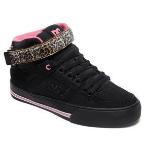 DC LADIES PURE HIGH TOP V BLACK/PINK/BLACK SHOE