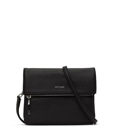 MATT & NAT LADIES HILEY LOOM BLACK SHINY NICKEL HANDBAG