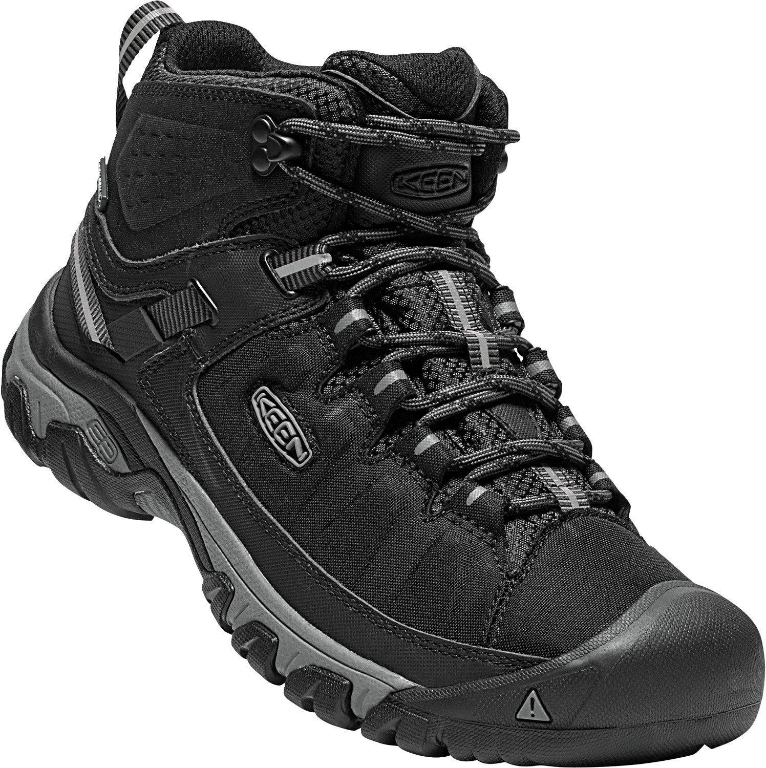 KEEN MENS TARGHEE EXP MID WP BLACK/STEEL GREY SHOE