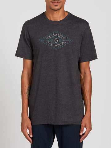 VOLCOM MENS VIK MAN HEATHER BLACK TSHIRT