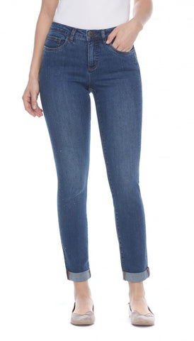 FDJ LADIES OLIVIA TWILIGHT SLIM  LEG JEAN