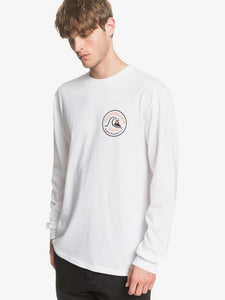 QUIKSILVER MENS CLOSE CALL WHITE LS TSHIRT