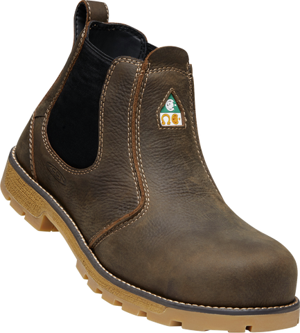 KEEN MENS SEATTLE ROMEO CSA CASCADE BROWN/GUM WORK BOOT