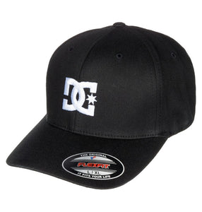 DC MENS CAP STAR 2 FLEXFIT BLACK HAT