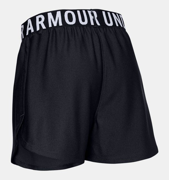 UNDER ARMOUR GIRLS PLAY UP SOLID BLACK SHORT