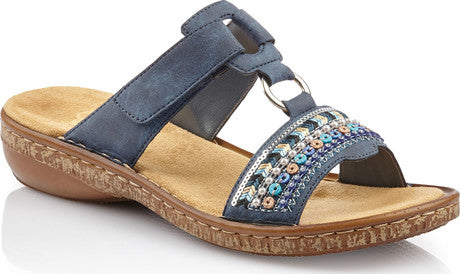 RIEKER LADIES 628M6-14 BLUE SANDAL