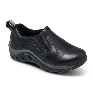 MERRELL YOUTH JUNGLE MOC LEATHER BLK SHOE