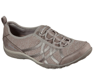 SKECHERS LADIES BREATHE EASY SWING TAUPE SHOE