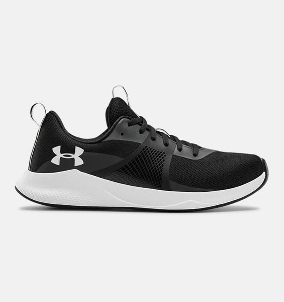 UNDER ARMOUR LADIES CHARGED AURORA BLACK/WHITE TRAINING SHOE