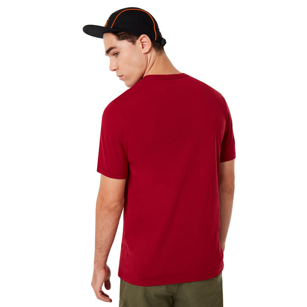 OAKLEY MENS O BARK RASPBERRY TSHIRT