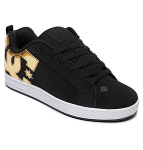 DC LADIES COURT GRAFFIK BLACK/GOLD SHOE