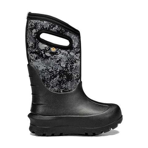BOGS YOUTH NEO-CLASSIC MICRO CAMO BLACK WINTER BOOTS