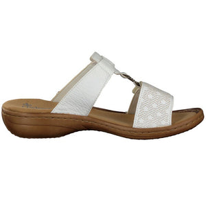 RIEKER LADIES 60885-80 WHITE SANDAL