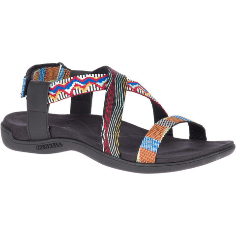 MERRELL LADIES DISTRICT KALBURY CROSS STRAP MULTI SANDAL