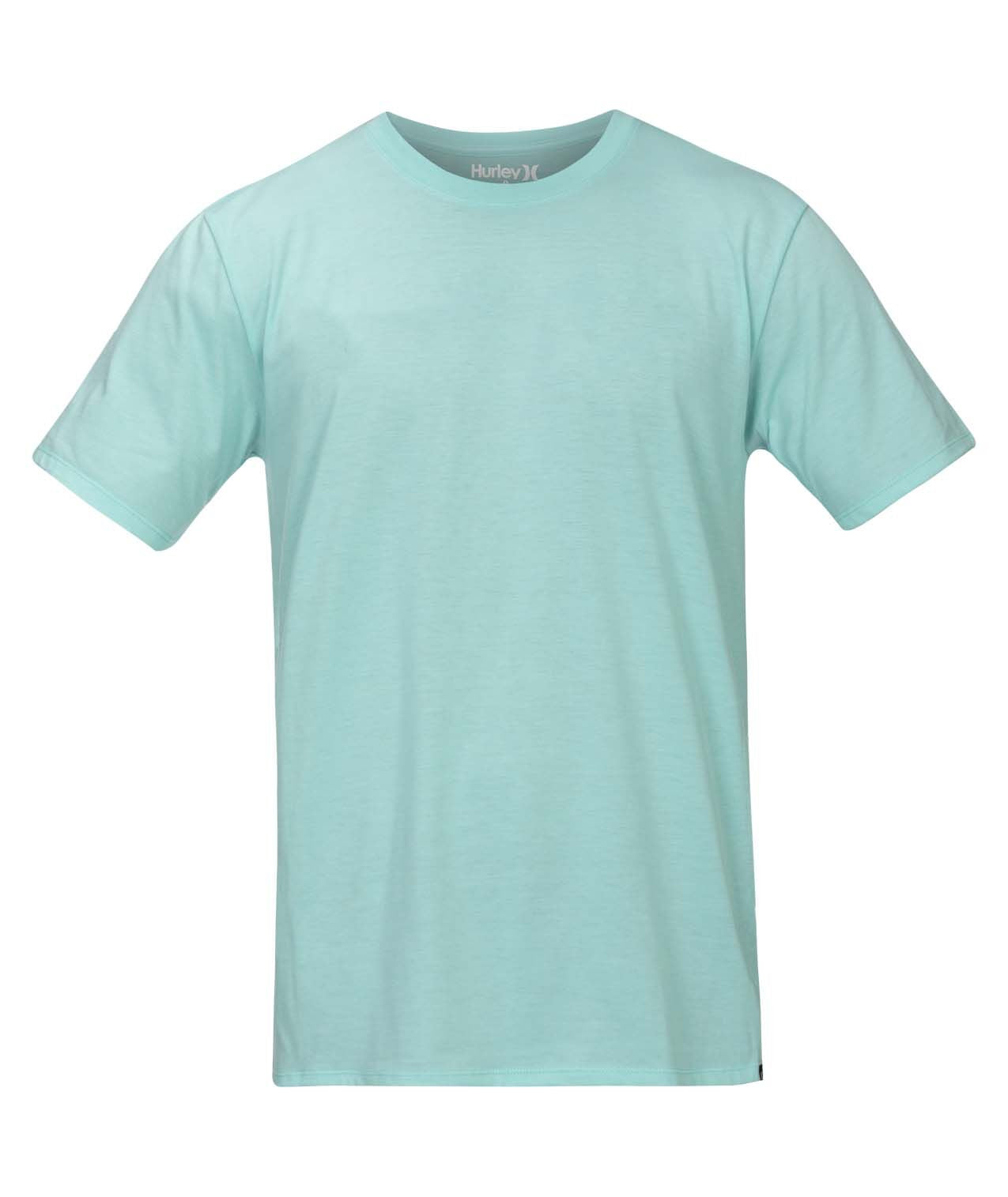 HURLEY MENS STAPLE AQUA TSHIRT