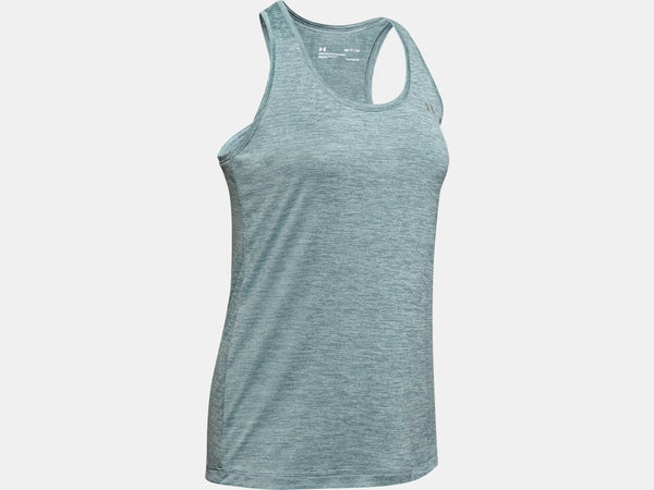 UNDER ARMOUR LADIES TECH TWIST HUSHED TURQUOISE TANK