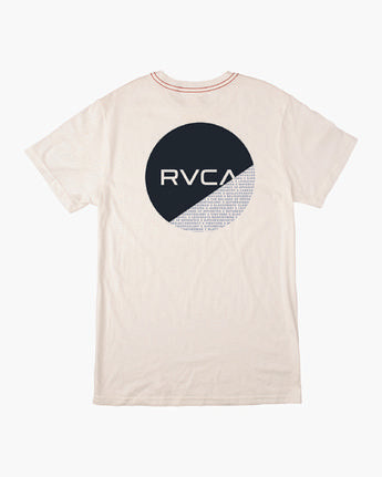 RVCA MENS FRACTION ANTIQUE WHITE TSHIRT