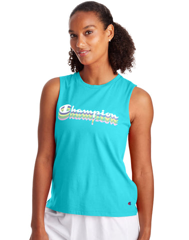 CHAMPION LADIES MUSCLE BLUE HORIZON TANK