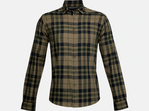 UNDER ARMOUR MENS TRADESMAN FLANNEL BAYOU LS TSHIRT