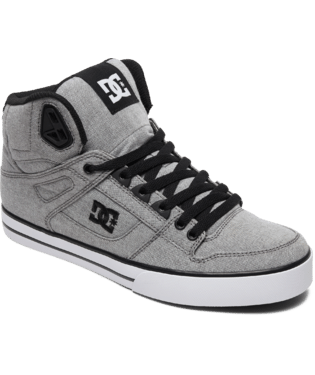DC MENS PURE HIGH TOP WC TX SE GREY SHOE