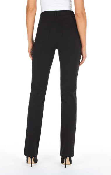FDJ LADIES SUZANNE BLACK STRAIGHT LEG JEAN