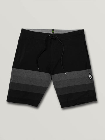 VOLCOM MENS QUARTA STATIC STONEY BLACK SHORT
