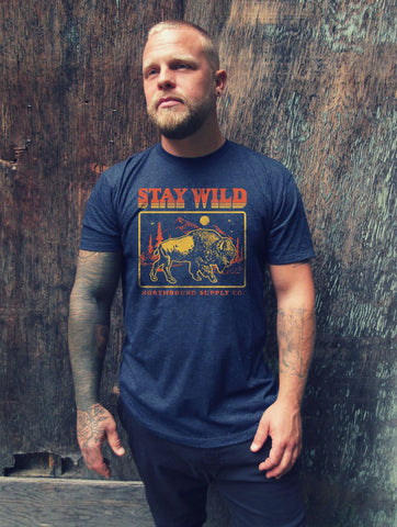 NORTHBOUND SUPPLY CO MENS STAY WILD DENIUM TSHIRT