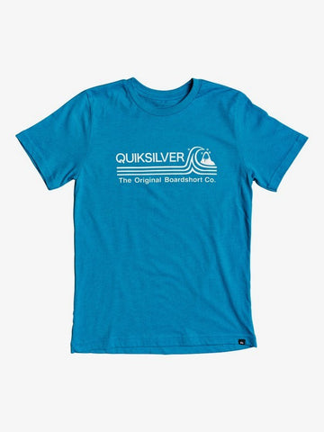 QUIKSILVER YOUTH STONE COLD CARIBBEAN SEA HEATHER TSHIRT