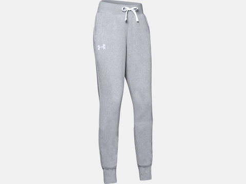 UNDER ARMOUR YOUTH GIRLS  RIVAL MOD GREY LIGHT HEATHER JOGGERS