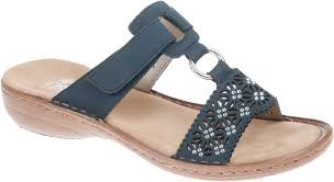 RIEKER LADIES 60871-14 NAVY SANDAL