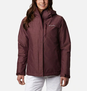 COLUMBIA LADIES WHIRLIBIRD IV INTERCHANGE MALBEC CROSSDYE WINTER JACKET